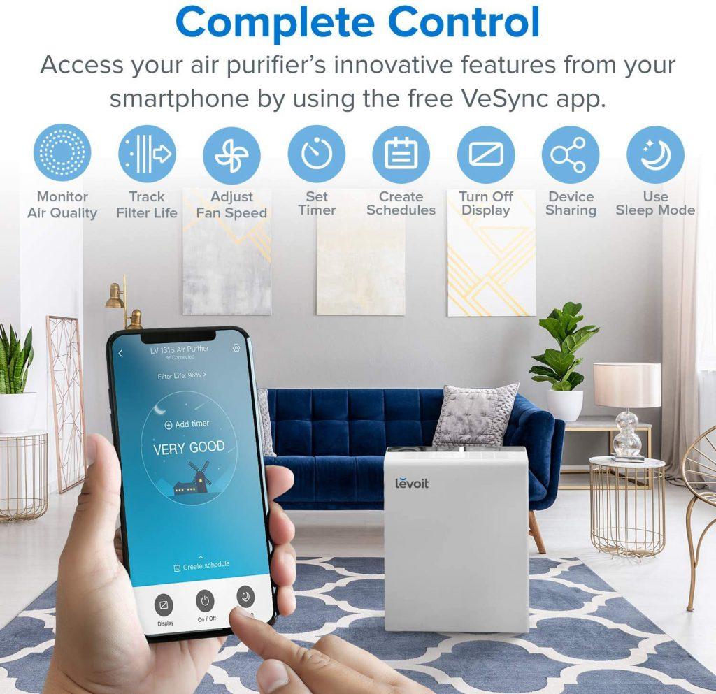 LEVOIT smart true HEPA air purifier